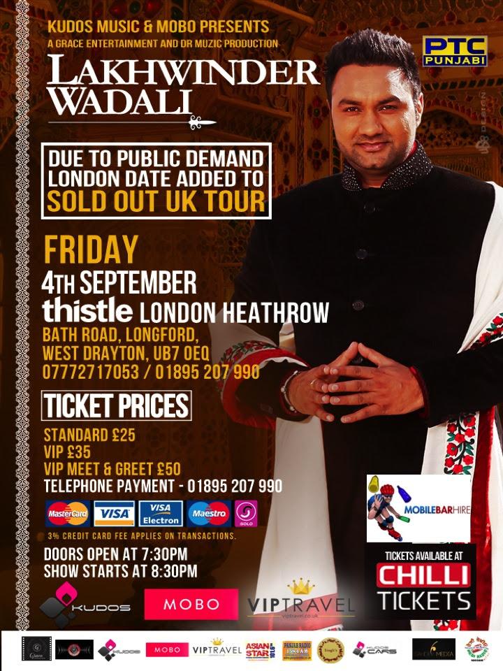 MOBO Media and Kudos Music Present Lakhwinder Wadali Live!