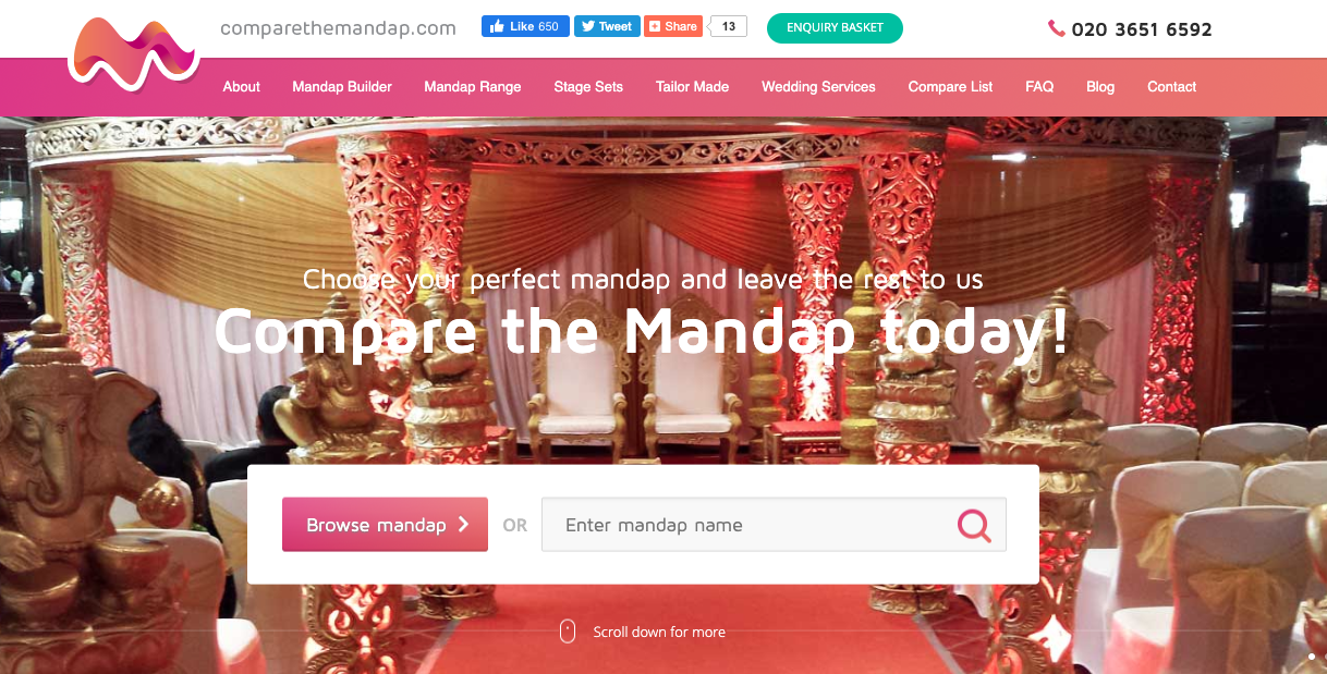 Mandap Hire website CompareTheMandap.com Acquired by Anything for Hire
