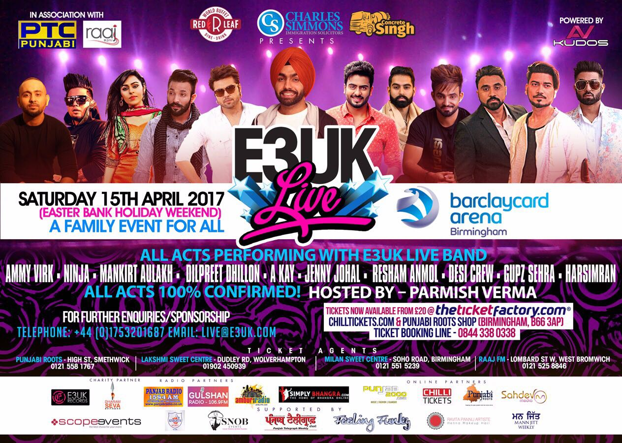 E3UK Live! – Bhangra show set to be a sell out