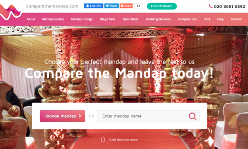 UK's biggest Mandap Hire website ComparetheMandap.com acquired by Anything for Hire